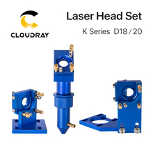 Cloudray K Series CO2 Laser Head Set D12 18 20 Lens for 2030 4060 K40 Laser Engraving Cutting Machine