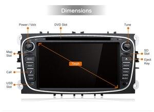Image 3 - DSP Android 10.0 samochodowy odtwarzacz DVD 2 Din radio GPS Navi dla Ford Focus Mondeo Kuga C MAX S MAX Galaxy Audio Stereo jednostka główna