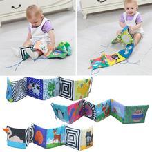 Детские Игрушки для раннего образования, красочные детские кроватки, тканевые книжки, детские погремушки, детская кровать, перила, тканевые Развивающие игрушки для детей