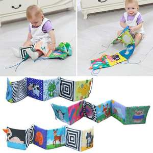 Toys Bed-Railing Crib Bumper for Baby Educational-Toys Cloth-Book Rattles Infant Colorful