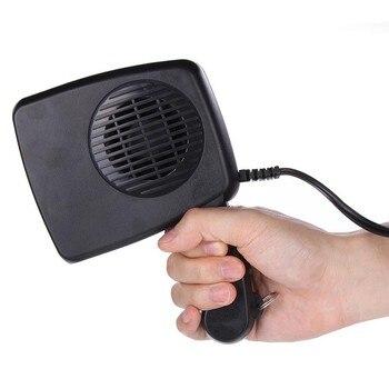 Calentador 2 en 1 de cerámica para coche, ventilador de refrigeración de 12 voltios, furgoneta de 150 vatios, calentador de coche para verano e invierno, Descongelador para coche