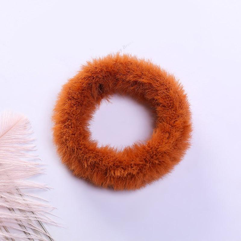 Мягкая Плюшевая повязка для волос резинки для волос натуральный мех кроличья шерсть мягкие эластичные резинки для волос для девочек однотонный цветной хвост резинки для волос для женщин - Цвет: 10
