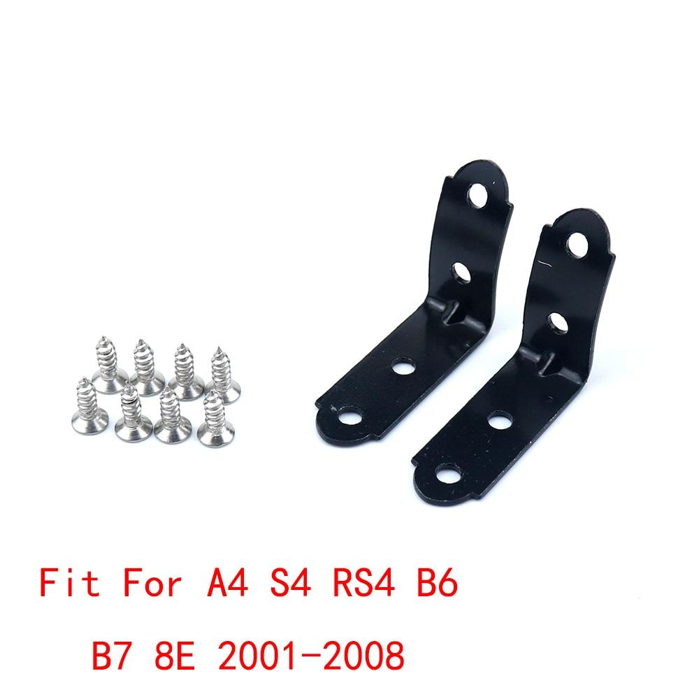Glove Box Repair Kit For Audi A4 S4 RS4 B6 B7 8E 2001-2008 With Screws 2PCS Black
