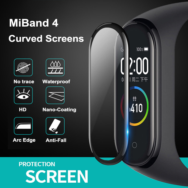1/2/3/5Pcs 3D Protective Glass for Xiaomi Mi Band 4 5 6 Screen Protector for Miband 5 4 Cover Smart Watchband 4 band5 Soft Film