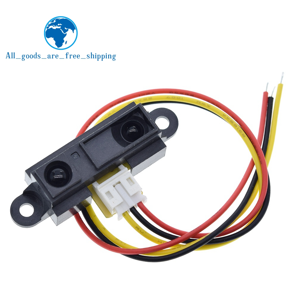 TZT GP2Y0A21YK0F 100% NEW 2Y0A21 10-80cm Infrared Distance Sensor INCLUDING WIRE