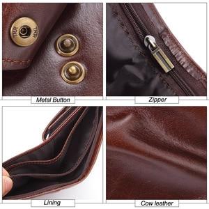 Image 5 - Flanker echt koe lederen mannen korte portemonnee met pocket fashion brand man hasp purse splice designer kaarthouder geld tas