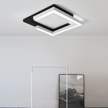 Square/Round White+Black Ceiling Lights for Living bed Room surface mounted Modern LED Ceiling Lamp Lights for office study room