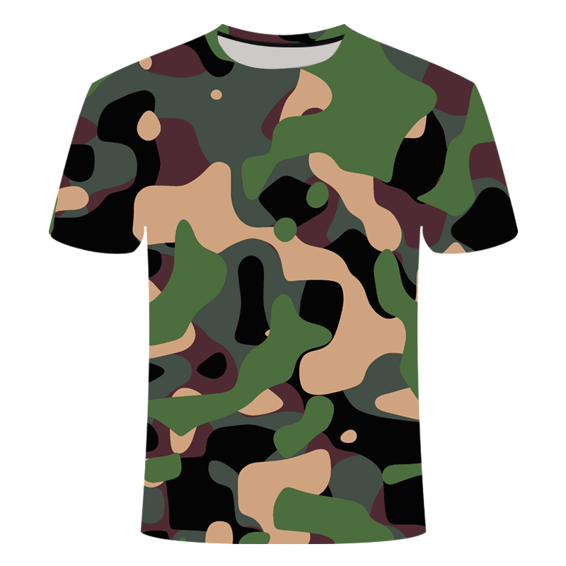 Boys Girls Red Gray Green Camouflage Clothing 3d Printed Tshirt Men Women Short Sleeve Tee shirt Brand Top T shirt Funny Tees