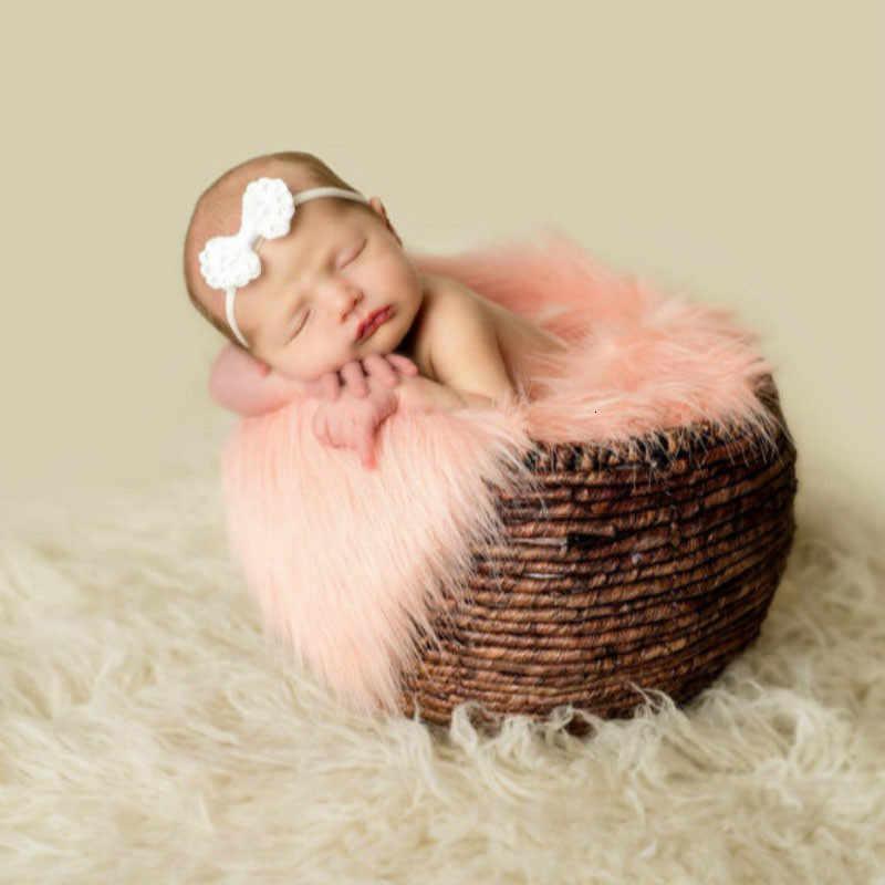 SeeTomatos 60*50 см Покрывало для фото новорожденных Искусственный мех одеяло плюшевый фон для фотосъемки реквизит корзина наполнитель