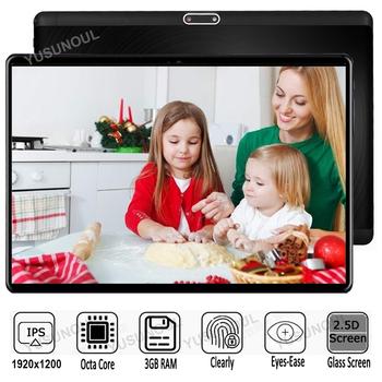 Sprzedaż 3G + 32G DHL bezpłatny 10 calowy Android 7 0 Octa Core 2 5D szkło hartowane 4G LTE Wifi 1920*1200 IPS podwójne karty SIM GPS IPS tablety tanie i dobre opinie YUSUNOUL ultra cienkie Z dwiema kamerami Rysik do tabletu Tablety dla dzieci Gniazdo słuchawkowe Mini USB Karta sd Karty tf