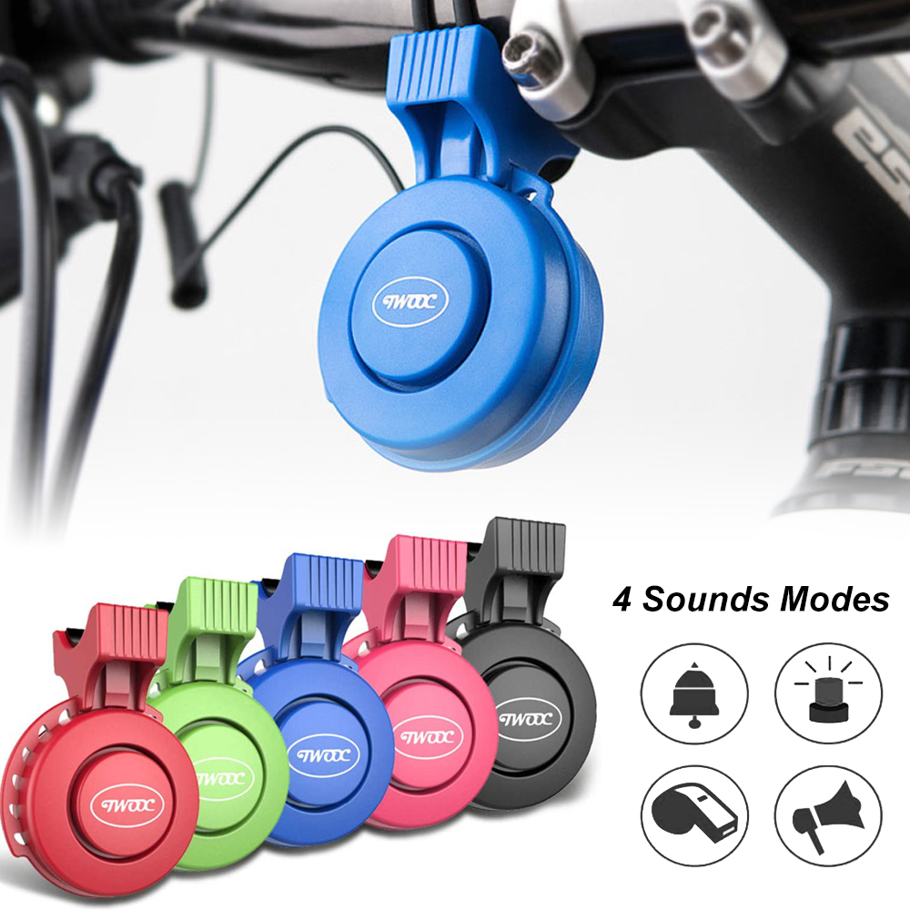 Electric Bike Horn Electronic Bicycle Bell 120dB Waterproof 4 Sound Modes Mini USB Rechargeable Bike Horn for Mountain Bike, BMX