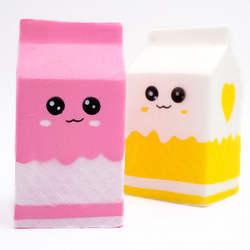 Игрушка в виде бутылки из-под молока, может коробка поднимающийся нажимать рулон подарок милые снятие стресса игрушки slime мягкими