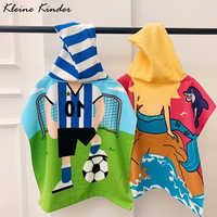 Strand Poncho Kind Mikrofaser Handtuch Surf Pool Bademantel Ändern Robe Mädchen Junge Quick Dry Surf Beach kinder Schwimmen Handtücher