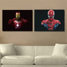 Modern famous movie Poster vintage retro poster iron man bat man Canvas Painting Nursery Art Prints Wall Picture for Kids Room(China)