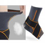 1pc Magic Sticker Nylon Protector Basketball Elastic Ankle Support Gym Sprain Prevention Sports Brace Warm Strap Striped Running