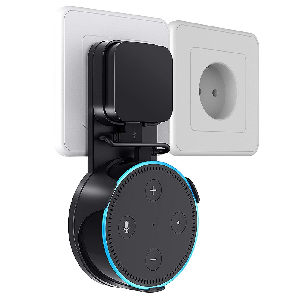 For Alexa Echo Dot 2nd Generation Wall Mount Stand Sperker Universal Support Speakers Bracket Sound Stand With USB Cable
