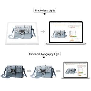 Image 4 - Mini estúdio de fotografia com luz led, luz de fundo sem sombra para fotografia, sala de fotografia, 20cm para atirar, tenda para itens pequenos