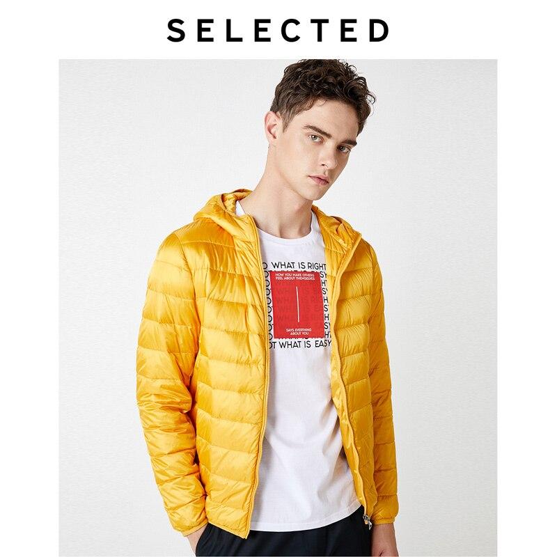 SELECTED Men's Light-weight Winter Outwear Detachable Hood Duck Down Jacket Coat S|419312505