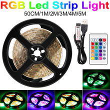 DC5V USB Led Strip Light Neon Ribbon Flexible RGB Lamp Tape Bande RGBW TV Backlight Lighting 50CM 1M 2M 3M 4M 5M
