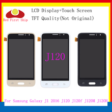 10Pcs/lot lcd For SAMSUNG GALAXY J1 2016 LCD J120 J120f J120M J120H Display Touch Screen Digitizer display for Samsung j120f 10pcs lot for samsung galaxy express i8730 lcd display touch screen digitizer without frame grey white color free dhl ems