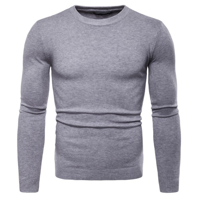 2020 New Arrival Mens Pullover Sweaters Fashion Knitted O-Neck Collar Long Sleeve Sweater For Men Casual Slim Fit Mens Sweater