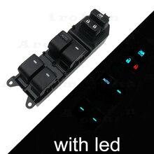 цена на Lighted LED Power Window Switch for Toyota Yaris Corolla Camry Highlander rav4 Vios 2006-2015 84820-06100 Lifter Master Control