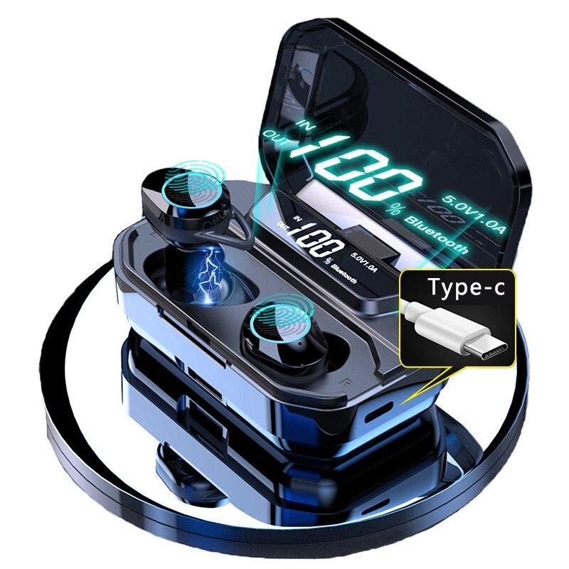 TWS G02 Bluetooth Earphones V5 0 Wireless Headphones 9D Stereo Music IPX7 Waterproof Earbuds with 3300mAh Long Battery Life