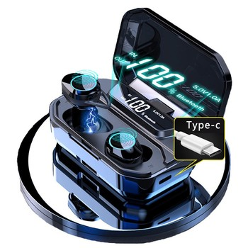 TWS G02 słuchawki Bluetooth V5 0 słuchawki bezprzewodowe 9D muzyka Stereo IPX7 wodoodporne słuchawki douszne z 3300mAh długi na baterie życie tanie i dobre opinie Orthodynamic wireless 120±3dB 0Nonem Do Internetu Bar Monitor Słuchawkowe Do Gier Wideo Wspólna Słuchawkowe Dla Telefonu komórkowego