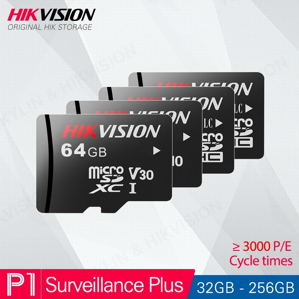 HIKVISION HikStorage Micro SD Card Class10 TF Card 32gb 64gb 128gb 256gb Max 90M s Memory card for Hikvision Surveillance  P1