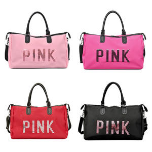 Handbag Weekend Sport Duffel-Bag Bolsos Sequins Pink Black Waterproof Women Ladies