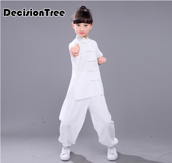 2019 Children Tai Chi Wushu Kung Fu Uniform Wushu Kids Chinese Traditional Outfits For Kids Girls Boys Stage Performance Set