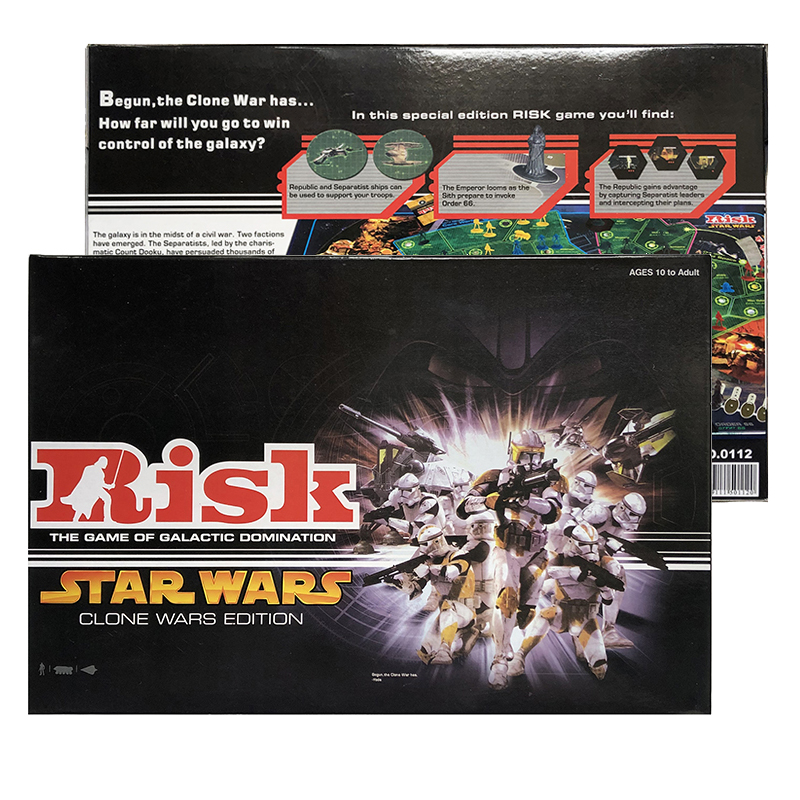 Risk Board Game Galactic Domination All New Clone Wars Edition SW Risky Table Games