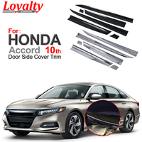 Loyalty ABS Chrome Carbon Fiber for HONDA Accord 2018 2020 Gen 10th Door Body Side Moulding Cover Car Styling Auto Accessories