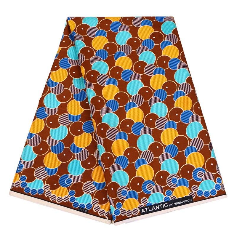 High Quality Nigerian Cloth Wax Ankara Fabric 6yards 100% Polyester Fabric For Wedding Dress