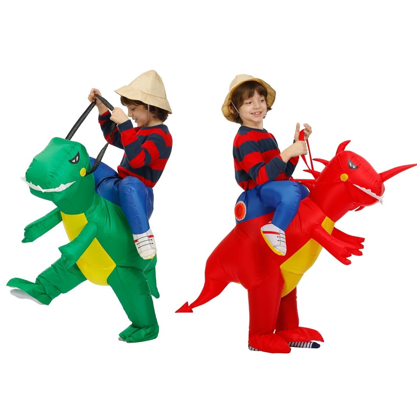 Bebé niños fiesta de Purim traje de Cosplay de animales traje de niño traje de Anime inflable traje de dinosaurio niños niñas disfraces 60-160cm