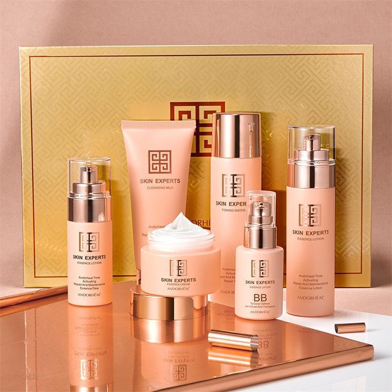 Anti-Aging Skin Repair Six Piece Set Hydrating Moisturizing Facial Skin Care Kit  Face Cream Serum Lotion Serum