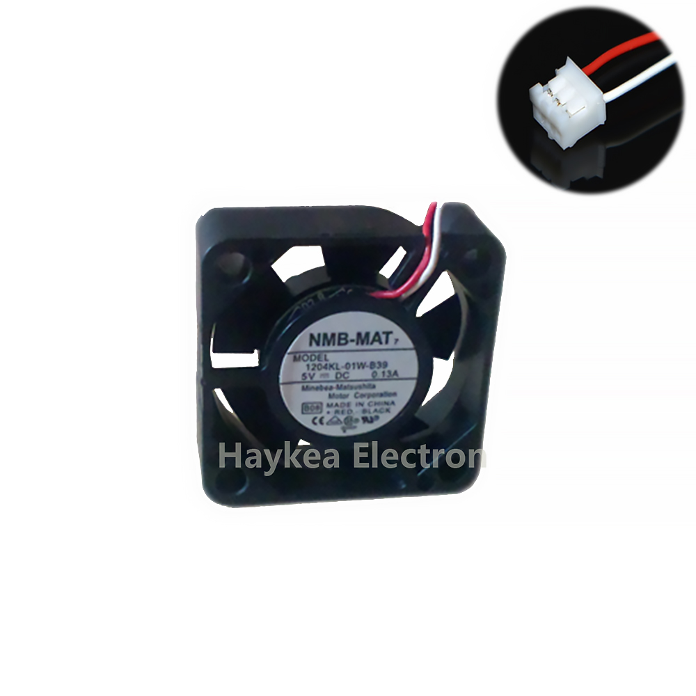 For NMB 3010 DC <font><b>5V</b></font> 0.13A <font><b>30mm</b></font> 3cm 1204KL-01W-B39 3Wire HDD Cooling <font><b>Fan</b></font> 30X30X10MM image