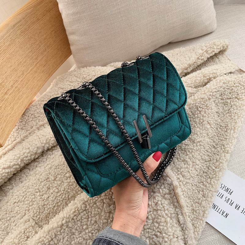 Solid Color Velvet Mini Crossbody Bags For Women 2019 Autumn Winter Luxury Brand Shoulder Messenger Bag Lady Travel Handbags