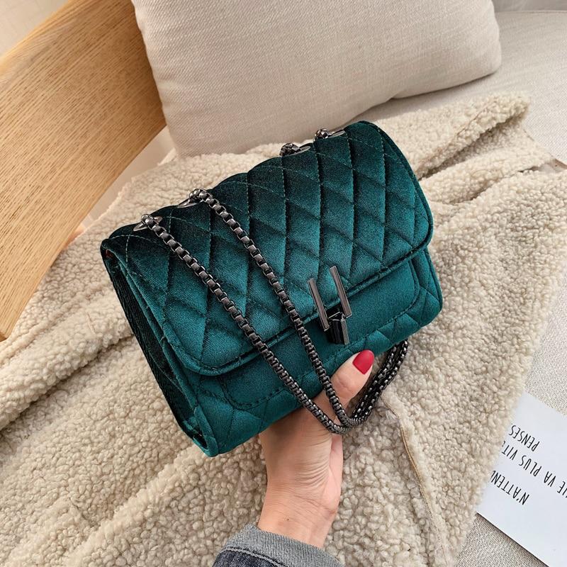 Solid Color Velvet Mini Crossbody Bags For Women 2019 Autumn Winter Luxury Brand Shoulder Messenger Bag Lady Travel Handbags
