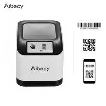 Aibecy 2200 1D/2D/QR Bar Code Scanner CMOS Image Desktop Barcode Reader USB Barcode Scanner Omnidirectional Screen