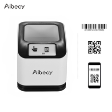 Aibecy 2200 1d/2d/qr scanner de código de barras cmos imagem desktop leitor de código de barras usb scanner omnidirecional tela