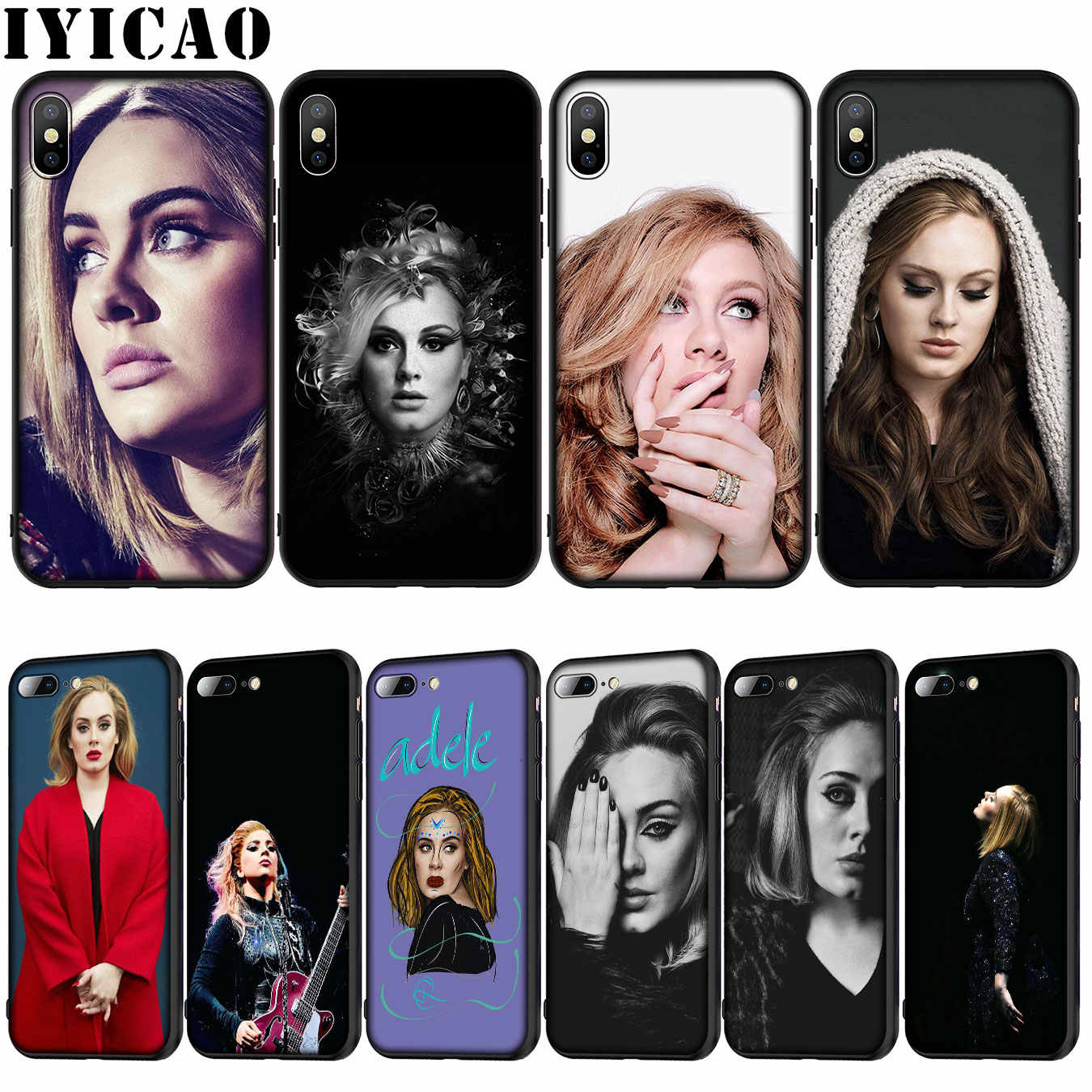 IYICAO Adele Adkins Silicone Mềm Cover cho iPhone XR X XS 11 Pro Max 10 6 6S 7 8 Plus 5 5S SE Ốp Lưng Điện Thoại