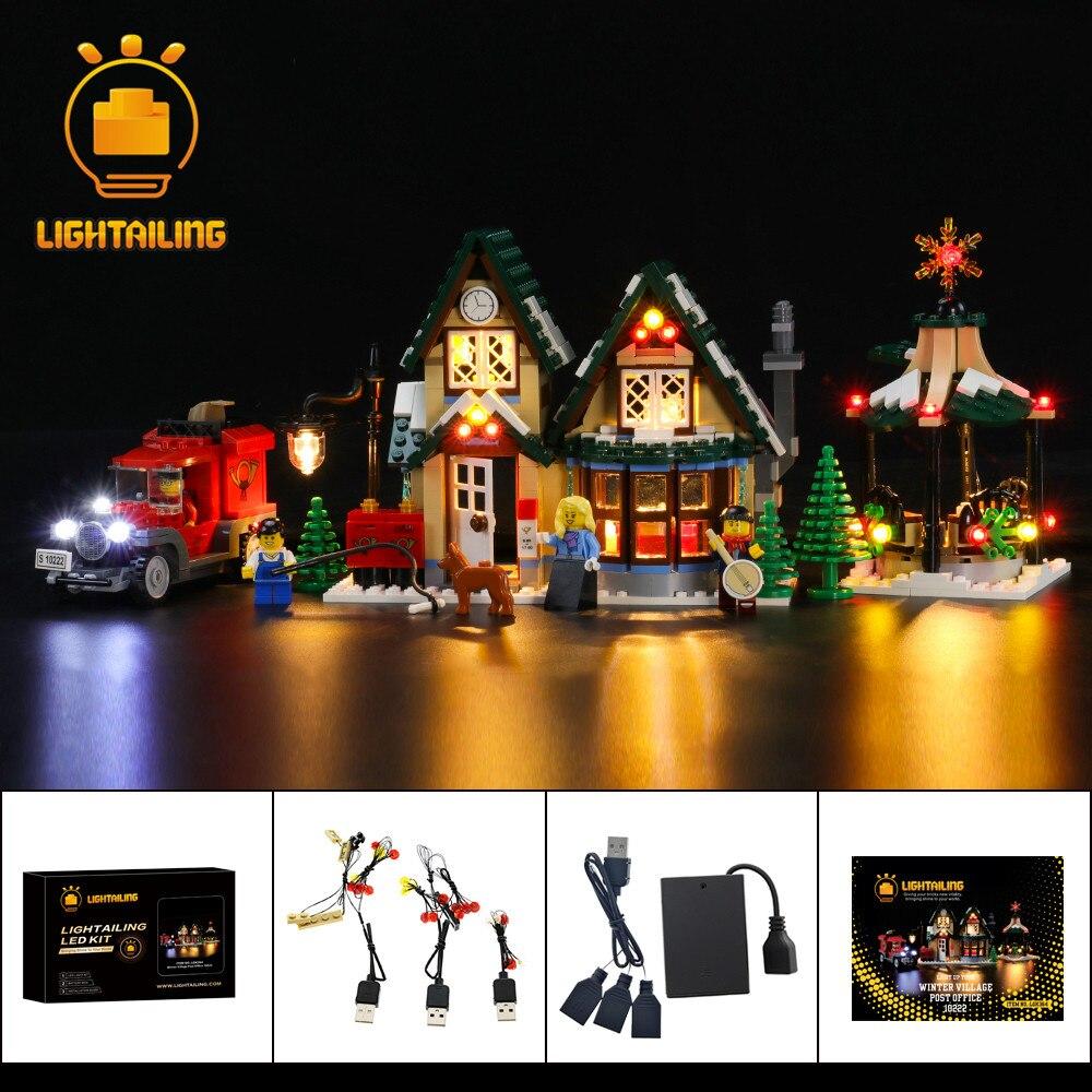 Светильник больного светодиодный светильник комплект для 10222 создатель зимняя деревня почтовое отделение игрушки строительные блоки свет...