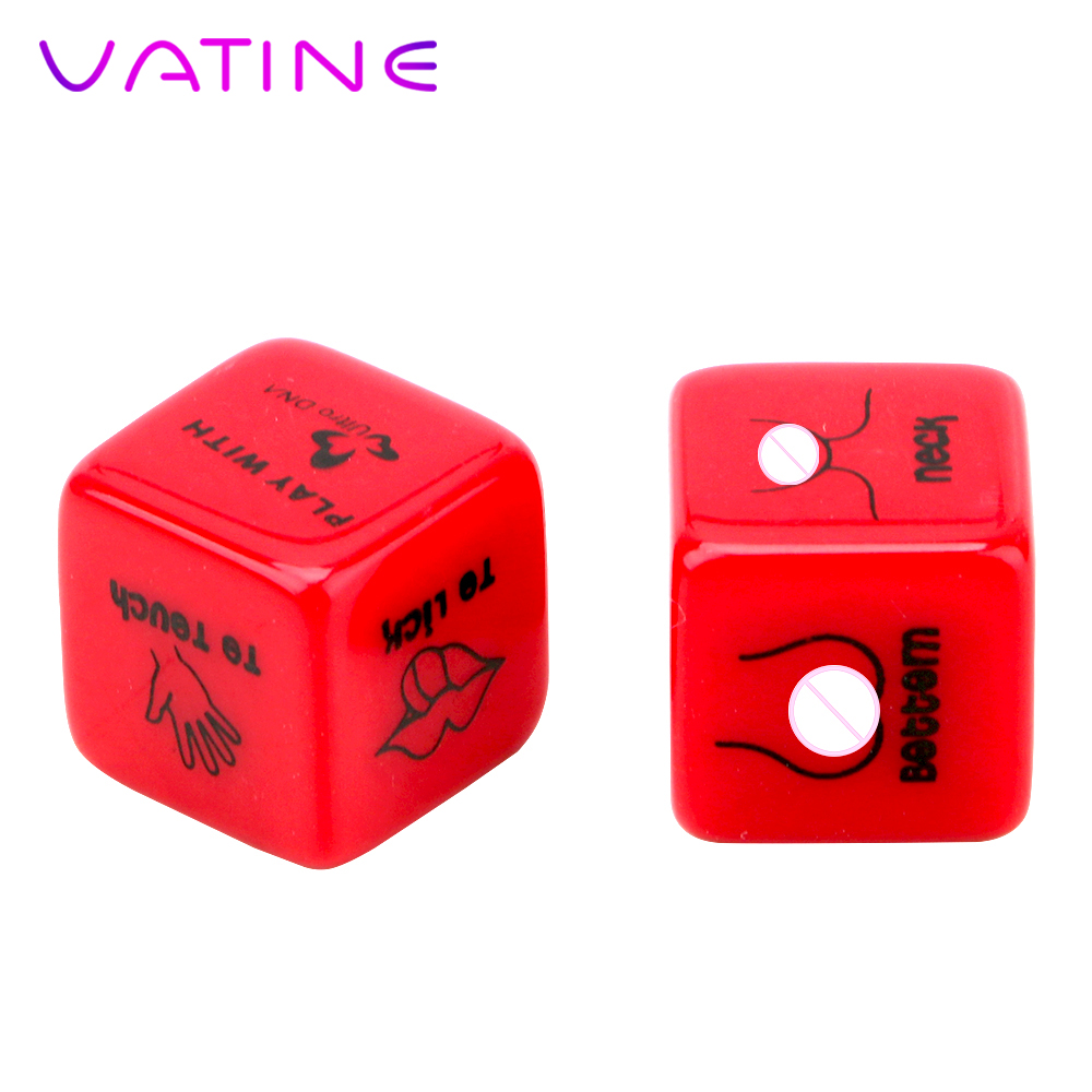 VATINE 2Pcs/lot 6 Positions Sex Dice Punishment Sexy Romance Love Humour Gambling Adult Games Erotic Craps Pipe Toy For Couples