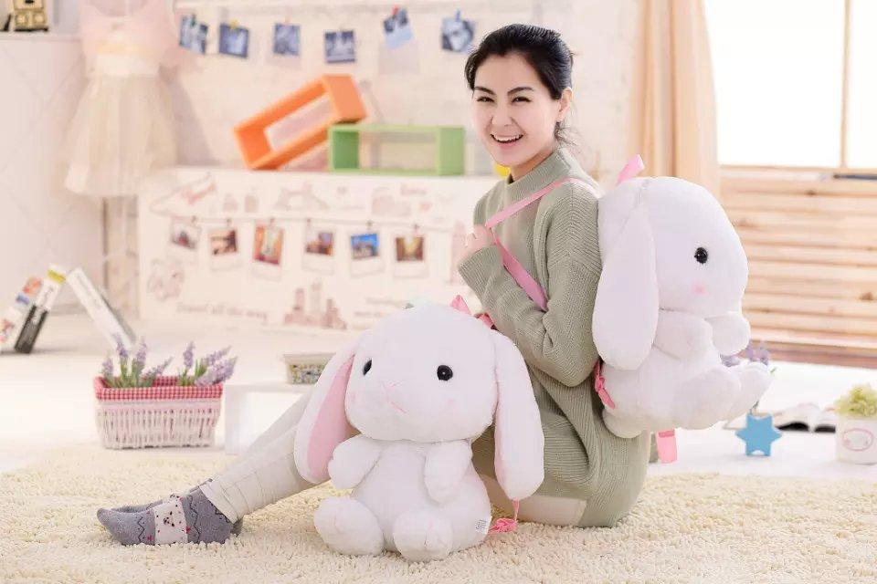 coelho saco plushie boneca brinquedos de pelúcia