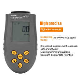 Tachometer Non Contact HS2234 Speed Gauge 0.1 RPM Digital Laser Tachometer LED Backlit Display