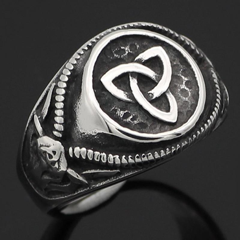 Fashion Mens Celtics Knot Satan Devil Goat Biker Rings Amulet Jewelry New