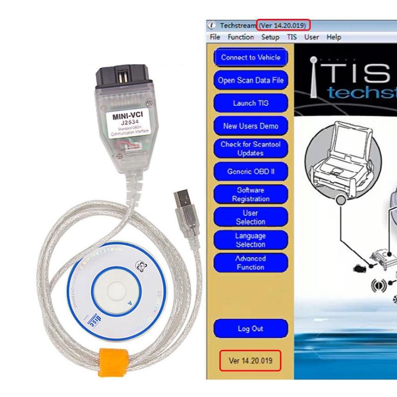 MINI VCI J2534 V 14.20.019 FT232RL Chip für TOYOTA OBDII Diagnose Werkzeug