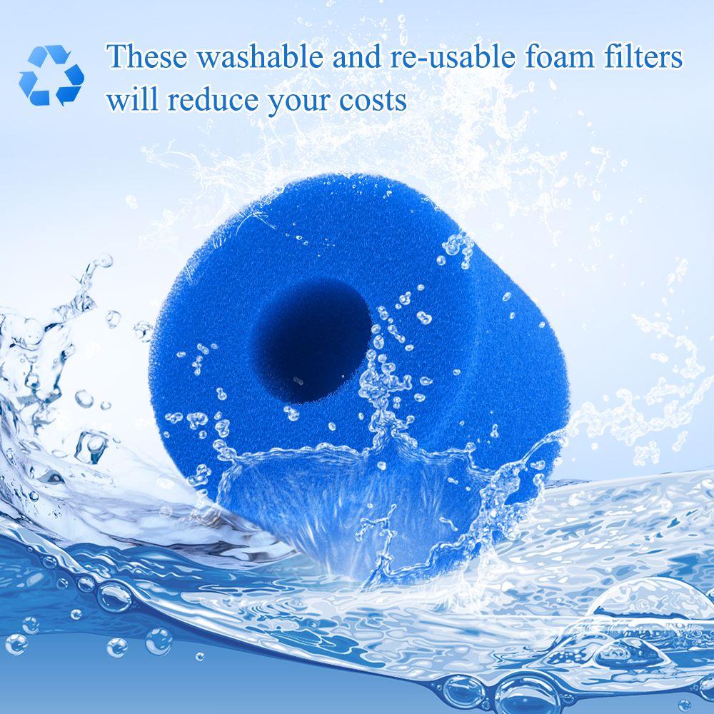 Swimming Pool Foam Filter Sponge Intex S1Type SPA Reusable Washable Biofoam Cleaner Pool Foam Filter Sponge Swimming Accessories