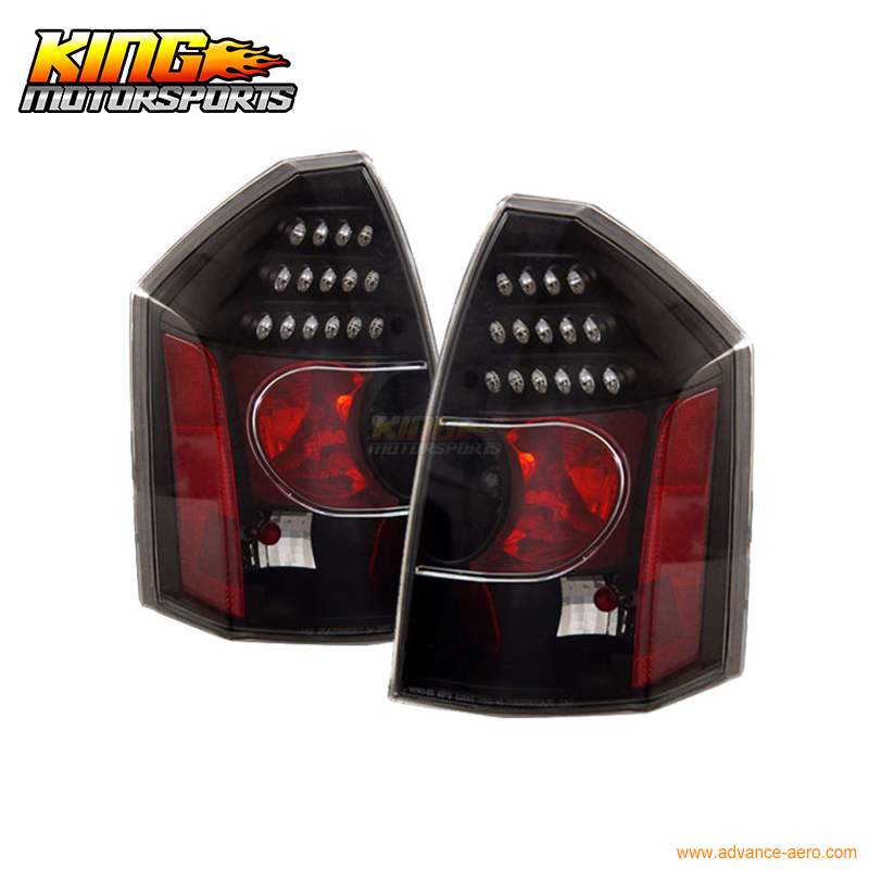 Fit For 2005-2007 06 Chrysler 300 300C LED Tail Lights Black Lamps USA Domestic Free Shipping